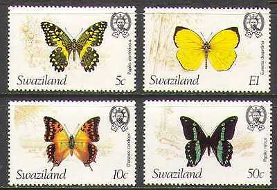 SWAZILAND 1981 BUTTERFLIES/INSECTS/NATURE/BUTTERFLY 4V SET N22164