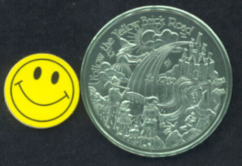Wicked WITCH Wizard of Oz Dorothy Tin Man Mardi Gras Doubloon Coin Token 1982