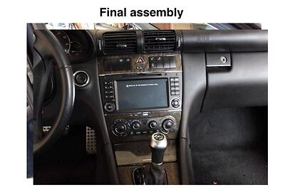 how to install gps stereo on mercedes benz c230 2007 ebay. Black Bedroom Furniture Sets. Home Design Ideas