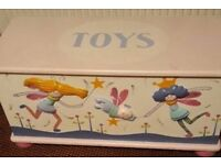Girls Funky Faries Toy Box and headboard