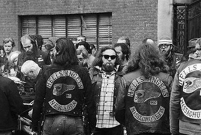 Hells Angels Motorcycle Gang 1965 Group Meet 8.5x11 Photo