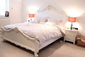 Antique Style WhiteFrench Bed OPEN TO OFFERS