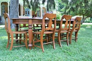 Antique Country Table and Chairs
