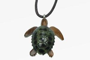Kette Schildkröte Holzanhänger Ketten Modeschmuck Holzkette Schildkröten neu