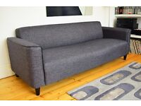 Great condition, cygnet grey, 3 seater Arthur sofa from Made.
