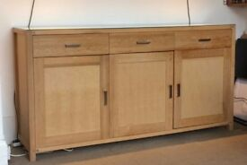 SOLID OAK SIDEBOARD, HEALS, SUPER SPACIOUS!