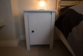 x2 White Ikea Bedside Tables