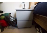 Small Grey Ikea Bedside Table