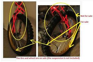 Bicycle use (dirt bike rim with dirt bike tire)