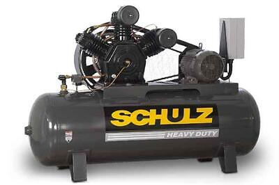 New 15hp Schulz V And W Air Compressor Two Stage Elec 3 Ph 230 Vlt 15120hw60x-3