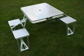 Silver camping table