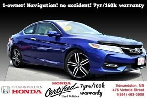 2016 Honda Accord Coupe Touring 1-owner! navigation! no accident