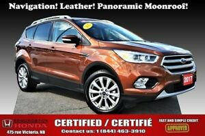 2017 Ford Escape Titanium Nav! Leather! Panoramic Moonroof! Heat
