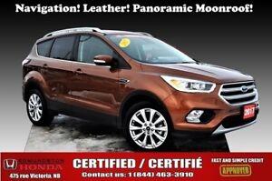 2017 Ford Escape Titanium Nav! Leather! Panoramic Moonroof! Heat