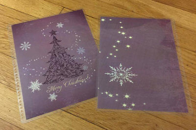 Glam Purple Christmas Tree Frontback Cover Set 4 Use W Erin Condren Planner