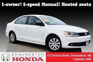 2013 Volkswagen Jetta Sedan Trendline 1-owner! 5-speed! Heated s