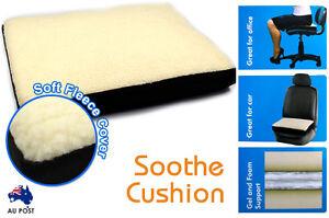 Super Comfort Fleece Memory Foam Cushion Liquid Gel Comfortable Seat AU