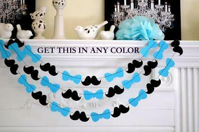 LITTLE MAN baby shower decoration bow tie decoration, bow tie garland/ mustache  (Baby Shower Mustache Decorations)