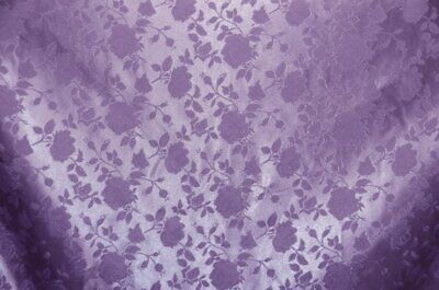"""Lavender Jacquard fabric Satin Floral drapery tablecloth  58"""" wide"""