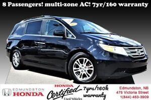 2013 Honda Odyssey EX 8-passenger! Multi-zone A/C! 7yr/160,000km