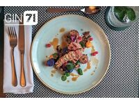 Gin71/Cup requires experienced Junior Sous Chef / Chef De Parties