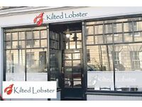 The KILTED LOBSTER, Edinburgh, 5 course seafood tasting menu for 2 with paired drinks VOUCHER £100