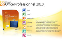 Microsoft Office 2010 Professionel-installation sur place