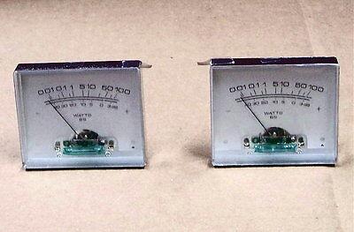 New - 2 Pcs Stereo Vu Audio Amplifier Kit Power Meters 100 Watt Electronic Pair