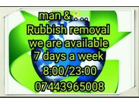 Rubbish removals. grass cutting. 50% discount on wood & free scrap metal