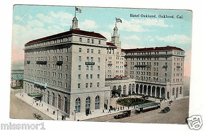 Hotel Oakland cable car limo Vintage postcard 1925 California (Hotel Cable)