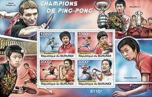 Table Tennis Masters China ping-pong Burundi 2011 s/s Sc.980 BUR11317b - Olsztyn, Polska - Table Tennis Masters China ping-pong Burundi 2011 s/s Sc.980 BUR11317b - Olsztyn, Polska