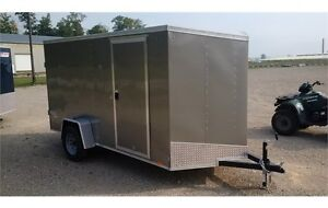 2016 Pace 6x12 Outback Deluxe V-Nose Cargo Trailer - Rear Ramp London Ontario image 4