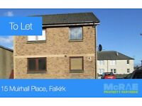 GOOD TENANTS WANTED 2 BED FLAT, 15 MUIRHALL PLACE, LARBERT, FK5 4RD