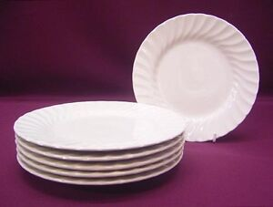 JOHNSON BROS BROTHERS REGENCY WHITE 6 PLATES 16cm - NEW