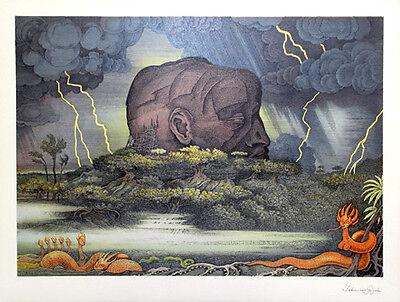 FABIUS VON GUGEL - Farblithographie. - - HANDSIGNIERT - VK: 380 Euro