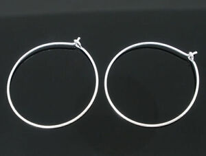 100 Silver Plated Wine Glass Charm Rings/Earring Hoops Wedding Hen Party