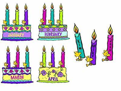 Eureka Peanuts Birthday Cake Bulletin Board Sign and Classroom Decorations, 8pc,
