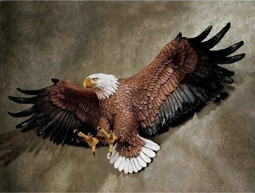 American Pride Eagle Hanging Wall Art Decor Sculpture Statue Figurine Hand-Cast