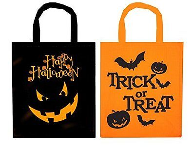 Fabric Treat Bags for Halloween Trick or Treat Bags kids pack of 2, 4,6,8 &10 (Halloween Trick Or Treat For Kids)