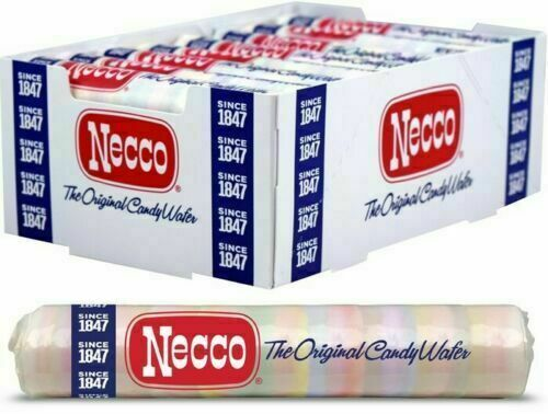 NECCO The Original Candy Wafers - 2oz. Rolls 24 pack ( Whole Box)