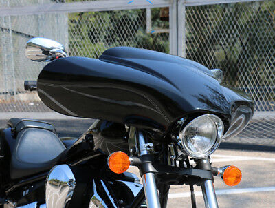 """Copper Black Fairing with 1000 W. amp and 6 1/2"""" Speakers Iron Horse motorcycles"""