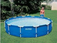 Swimming Pool. (3.6m diameter, 0.8m deep) complete with cover, pump & chemicals.