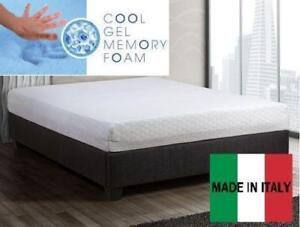 "***Made In Italy-Brand new luxury 8"" Queen SLEEP COOL Gel memory foam-Free delivery"
