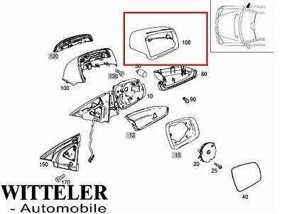 Mercedes E-C-Klasse W212/ W204 Außenspiegel- Spiegelkappe m. Blinker rechts 9197
