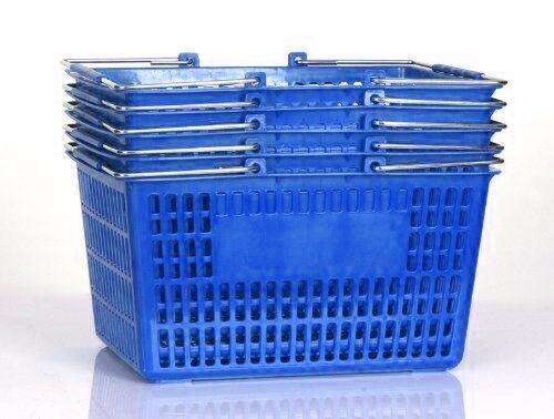 NEW Blue Shopping Basket Set of 6