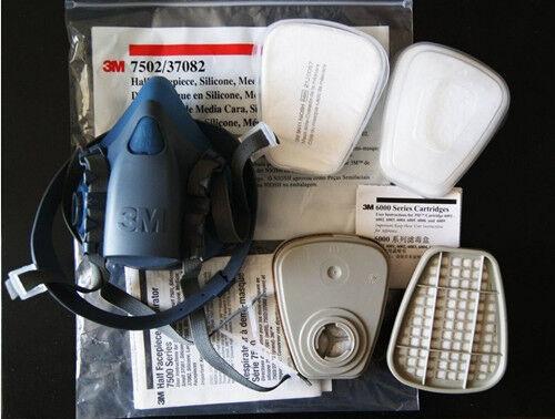 Free Shipping 3M 7502 7 Piece Suit Respirator Painting Spraying Face