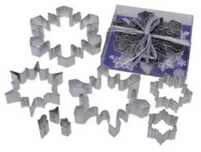 8 Piece Snowflake Cookie Cutter Set NEW!  SNOWFLAKES! - Snowflake Cookie