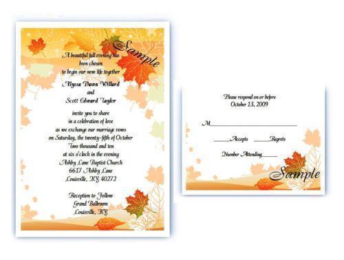 Buy Wedding Invitation Kits: Fall Wedding Invitations