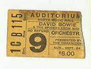 David Bowie Ticket