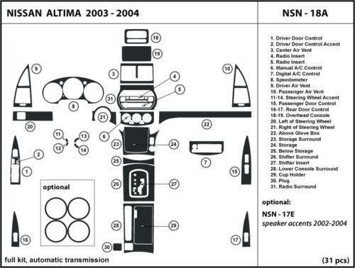 2003 Nissan Altima Dash Ebay